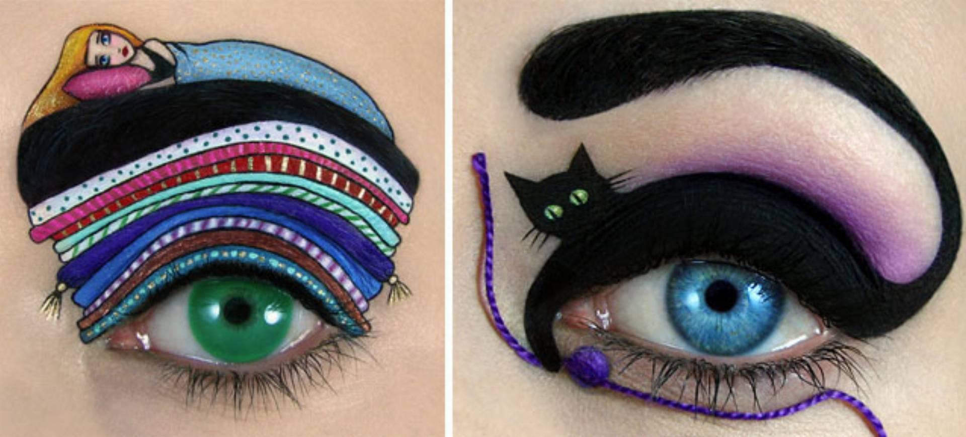 tal-peleg makijaz oczu
