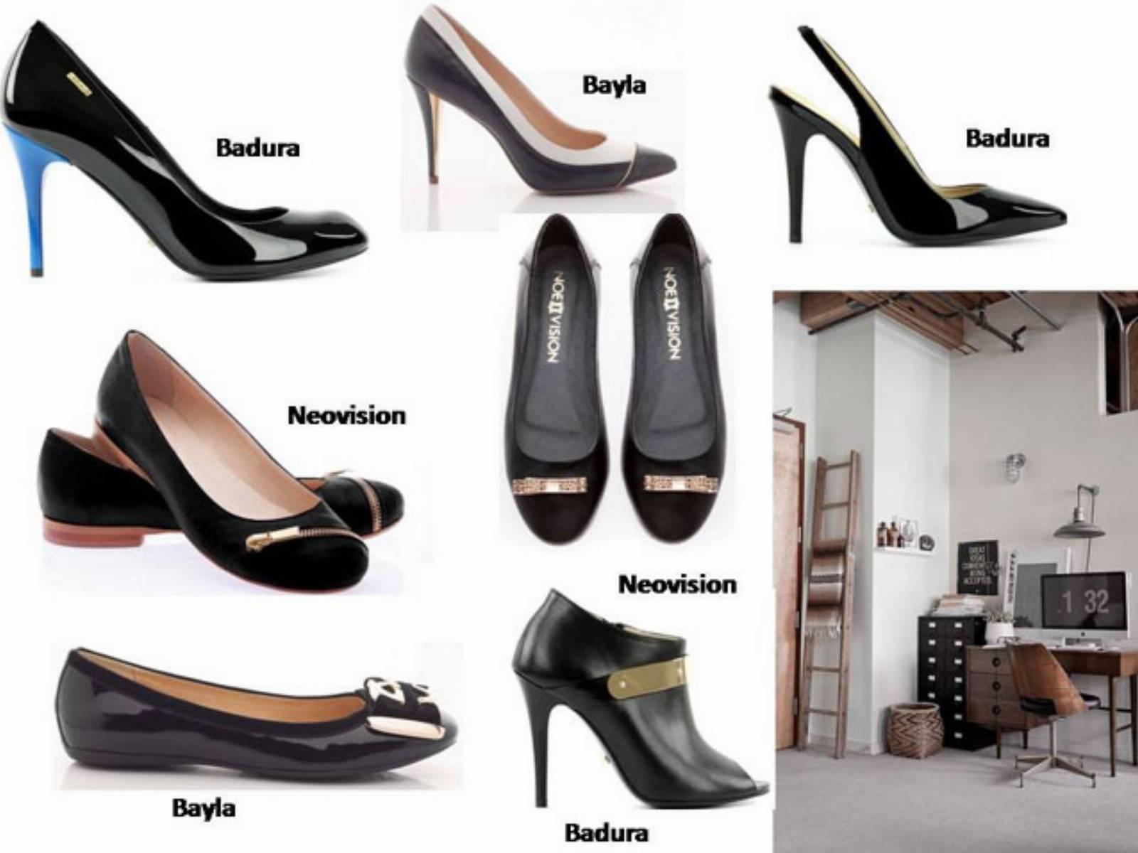 Dodatki do stroju biurowego - czarne buty