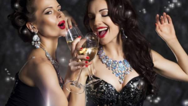 Impreza w stylu glamour