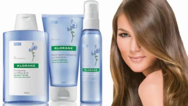 KLORANE- pielęgnacja włosów na bazie włókien lnu dodająca objętości