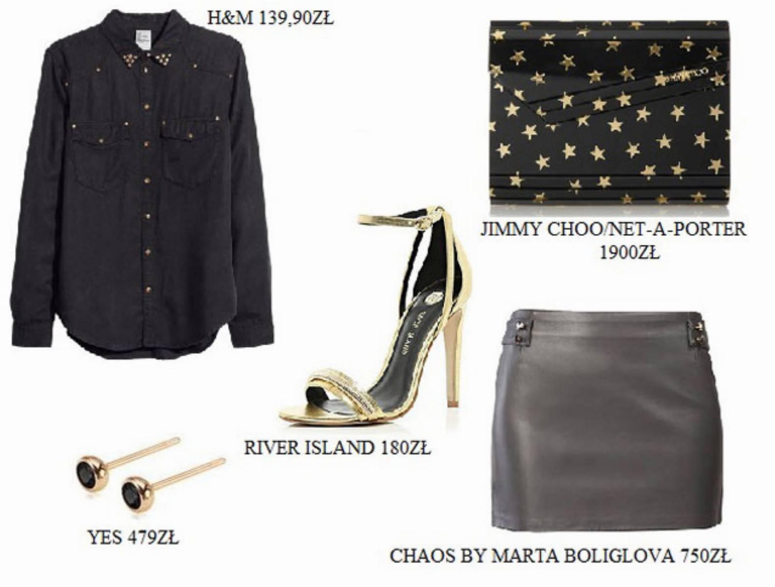 Skorzana spodnica - stylizacja (2)