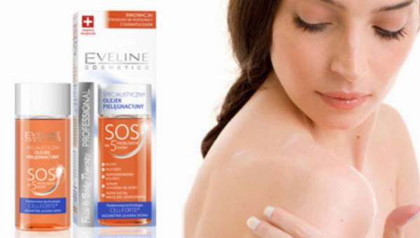 Szwajcarska receptura Face&Body Theraphy – specjalistyczny olejek pielęgnacyjny SOS na 5 problemów skóry od Eveline Cosmetics