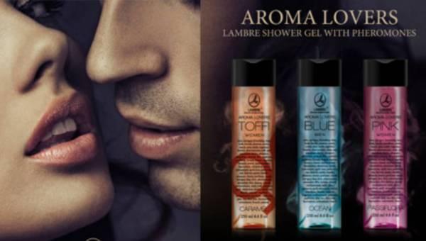 Walentynki z pachnącymi żelami pod prysznic Aroma Lovers od LAMBRE