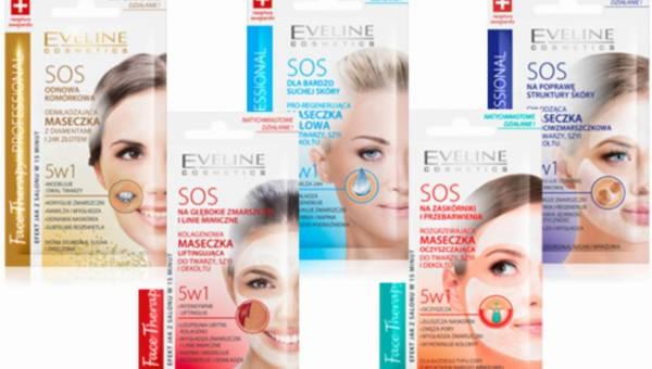 Regeneracja i odżywianie skóry na wiosnę z nowymi maseczkami do twarzy z linii SOS Eveline Cosmetics