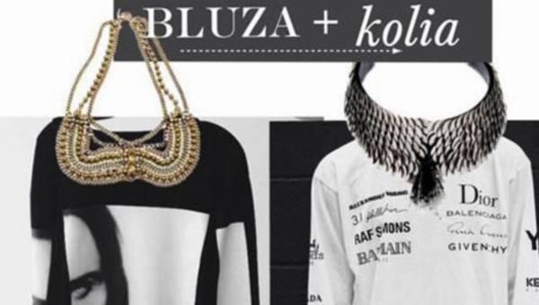 Cocktailowy naszyjnik w miejski stylu – trend bluza&kolia na wiosnę 2014
