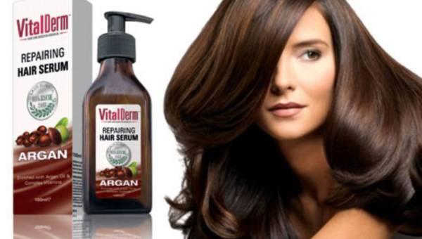 Nowość: VITAL DERM – naprawcze serum do włosów z olejem arganowym