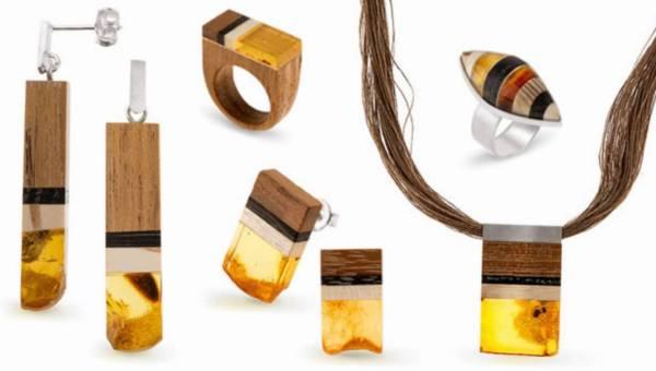 Drewno i bursztyn – idealne połączenie w biżuterii Amberwood