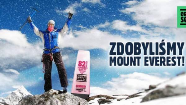 Original Source – pierwszy żel pod prysznic na szczycie Mount Everest