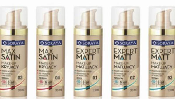 Nowy make-up Soraya: EXPERT MATT – matujący oraz MAX SATIN – kryjący