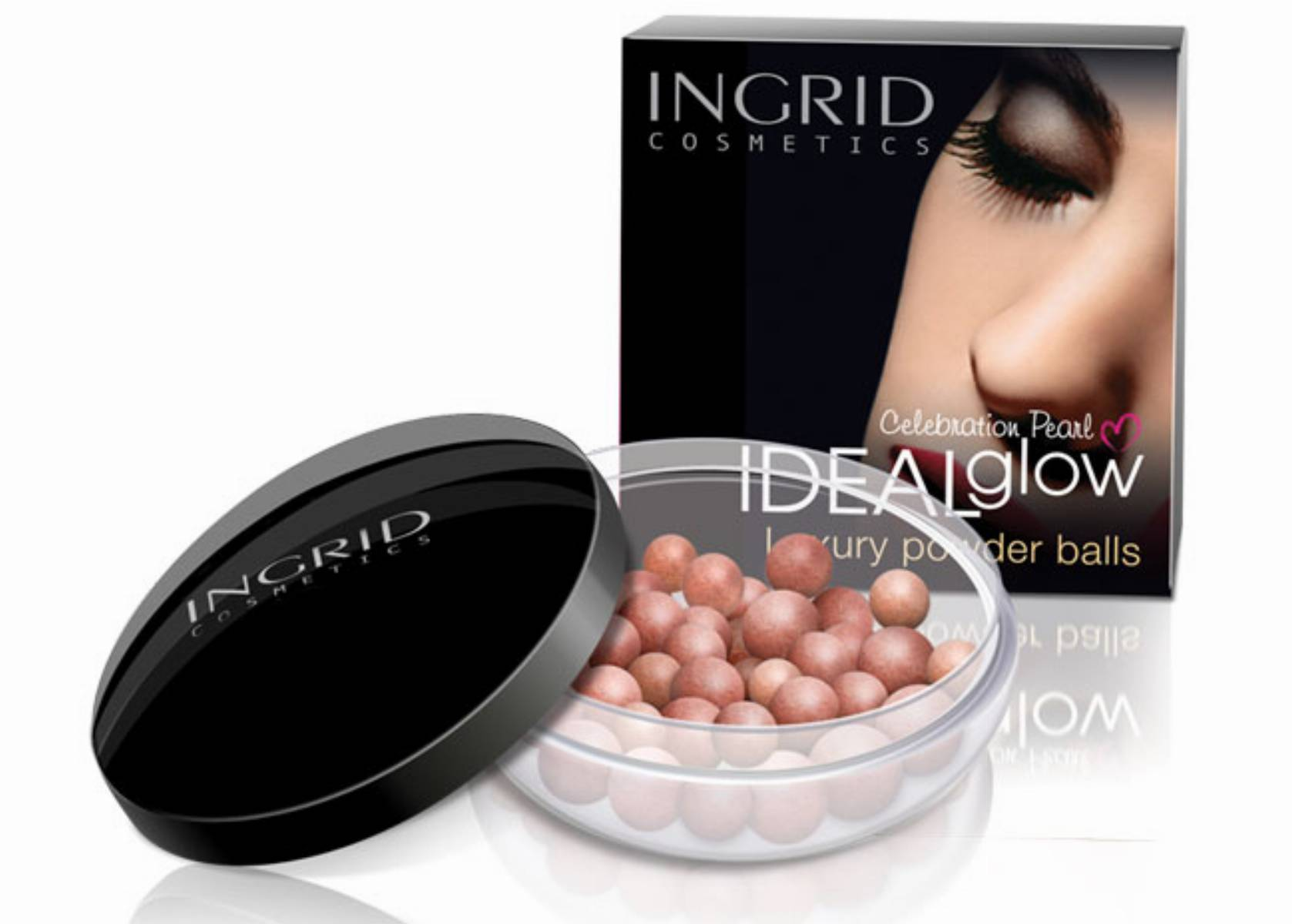 Puder w kulkach IDEAL glow Celebration Pearl INGRID