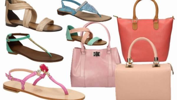 Modne pastelowe torby i sanadały na lato 2014