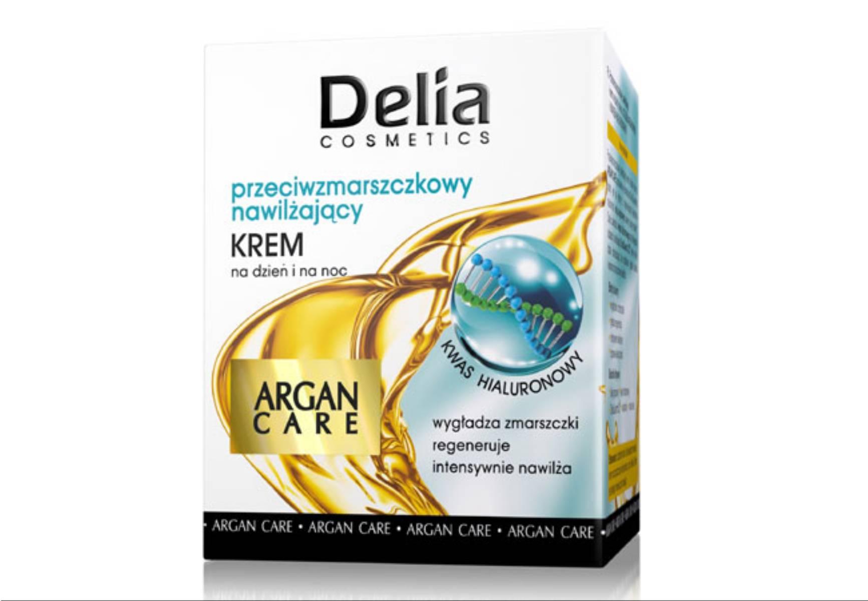 Delia Cosmetics - krem przeciwzmarszczkowy nawilzajacy Argan Care
