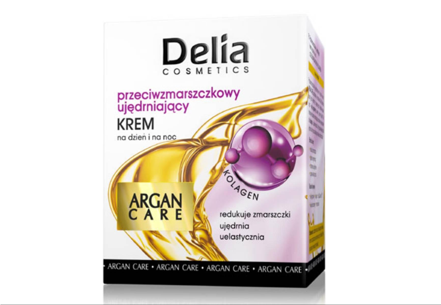 Delia Cosmetics - krem przeciwzmarszczkowy ujedrniajacy Argan Care
