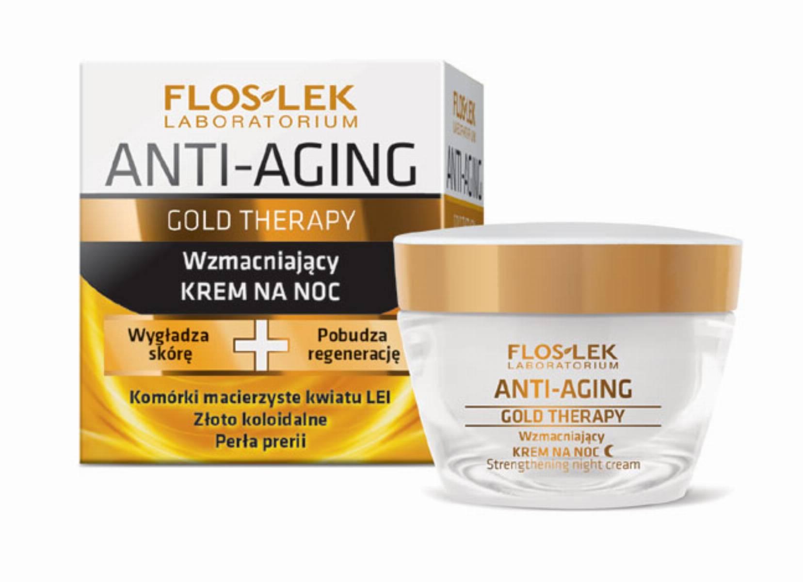 FLOSLEK Gold Therapy - wzmacniajacy krem na noc
