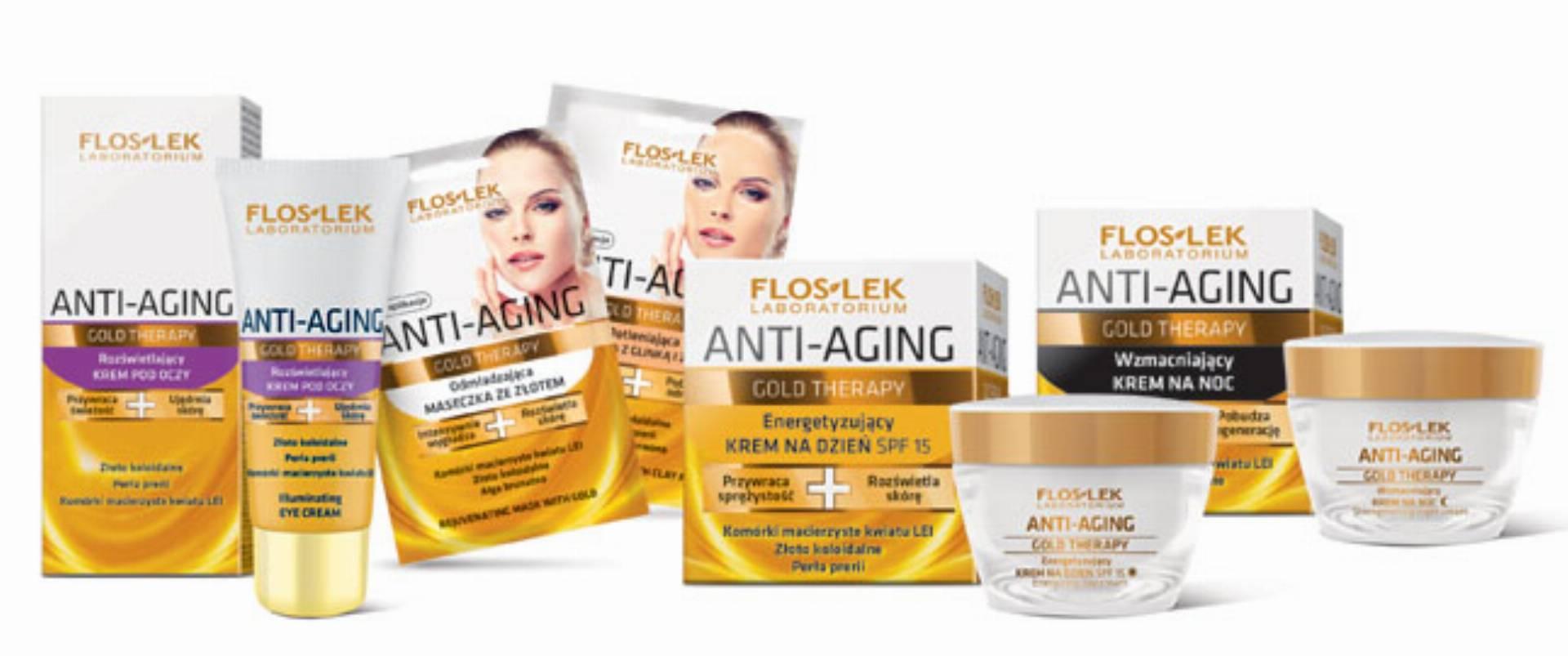 Kosmetyki z linii Gold Therapy od FLOSLEK