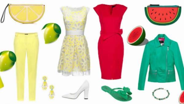 Owocowe letnie stylizacje