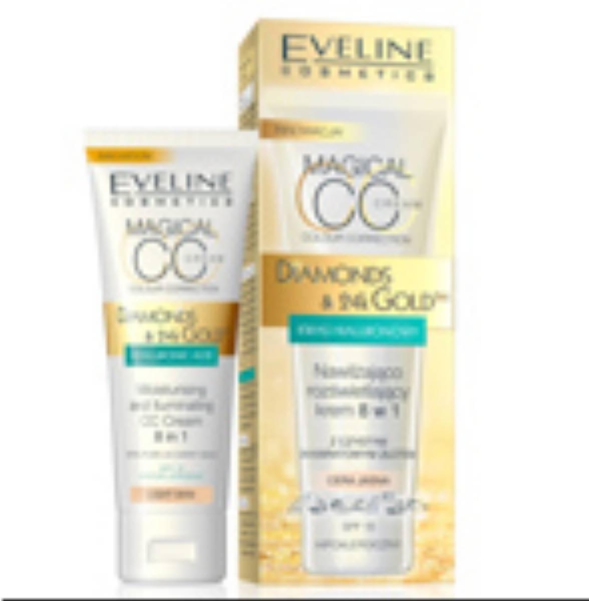 Eveline-Cosmetics-Nawilzajaco-rozswietlajacy-CC-krem-8w1-DIAMONDS&24kGOLD_min