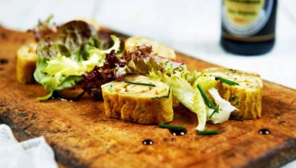 Omlet z kolendrą prawie po japońsku