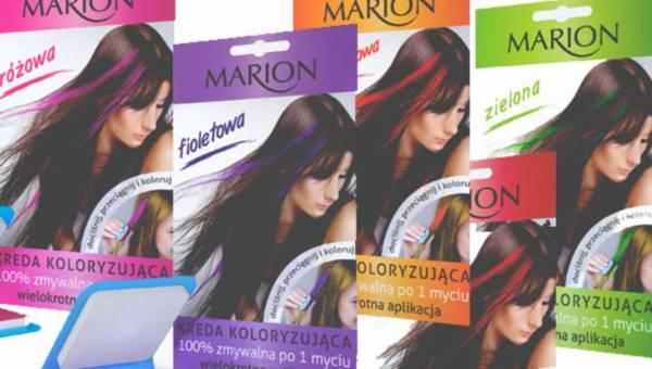 Kolorowy make-up dla włosów – kredy koloryzujące marki Marion