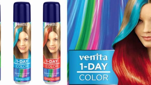 Nowość: Kolorowy spray do włosów z 1-dniowym efektem od marki Venita
