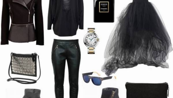Gotowe stylizacje w kolorze czarnym