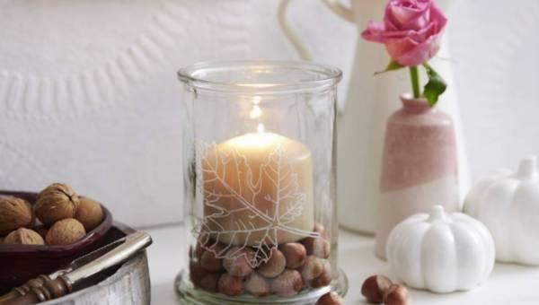 Jesienny świecznik – zrób to sama!