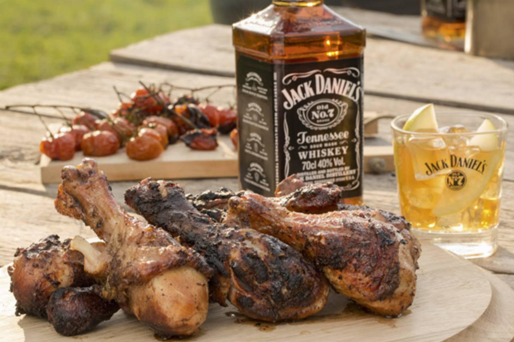 Podudzia kurczaka marynowane z Jack Daniel's i limonkami