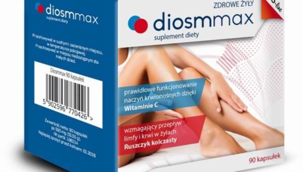 Suplement diety Diosmmax – na elastyczne żyły i naczynia krwionośne