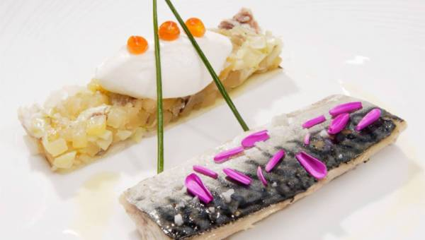 Michel Moran: Makrela w niskiej temperaturze, chutney z jabłek, imbiru i wódki