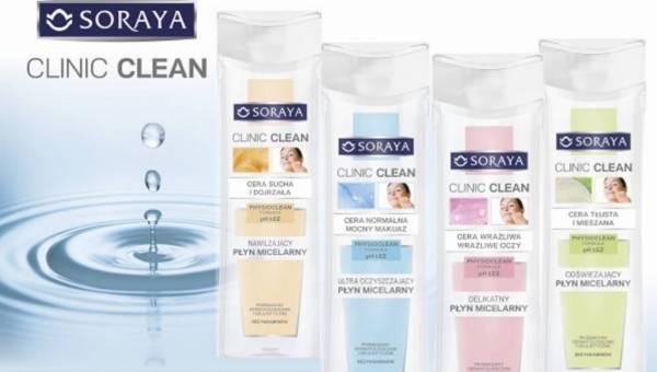 Nowa linia Soraya CLINIC CLEAN – PŁYNY MICELARNE