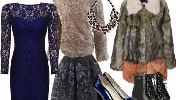Futro + koronki = modna stylizacja