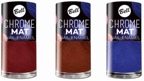 Nowość Bell: Satynowy lakier do paznokci Chrome MAT