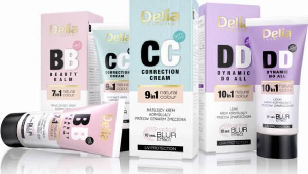 Kremy BB, CC i DD – Nowości Delia Cosmetics