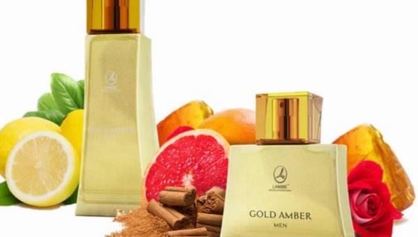 """Nowe """"bursztynowe"""" zapachy LAMBRE: Gold Amber –  dla Niej i dla Niego"""