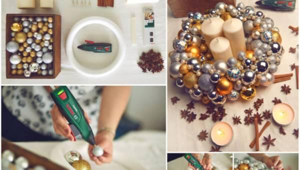 Jak zrobić świąteczny wianek z bombek (DIY)