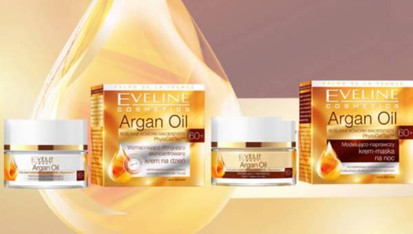 Kuracja naprawcza z kremami 60+ Argan Oil Eveline Cosmetics