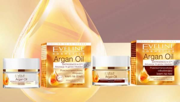 Spektakularny efekt odmłodzenia skóry z kremami 50+ Argan Oil Eveline Cosmetics