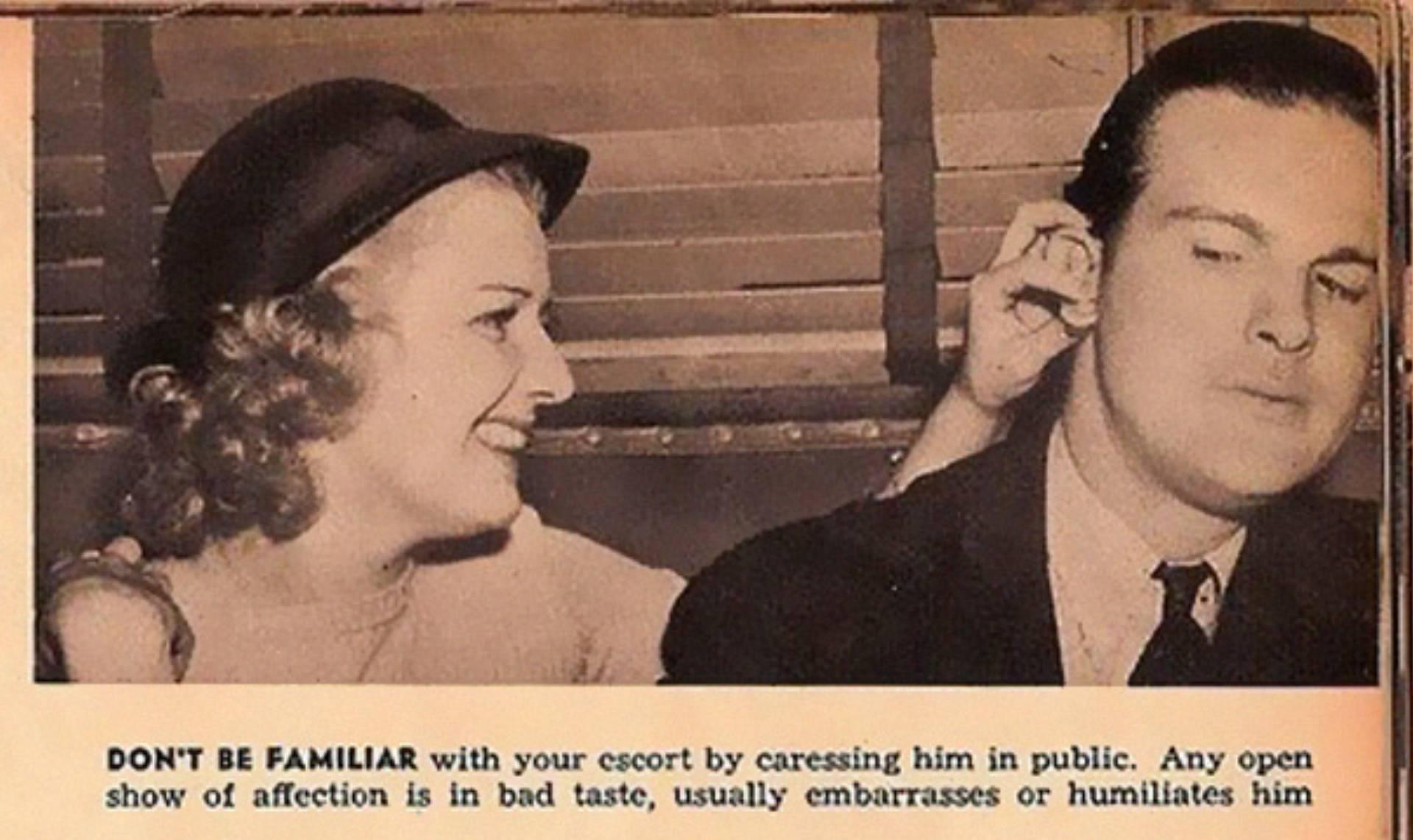 Vintage przewodnik randkowy
