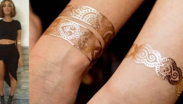 Hit karnawału – zmywalne złote tatuaże Bright Boho