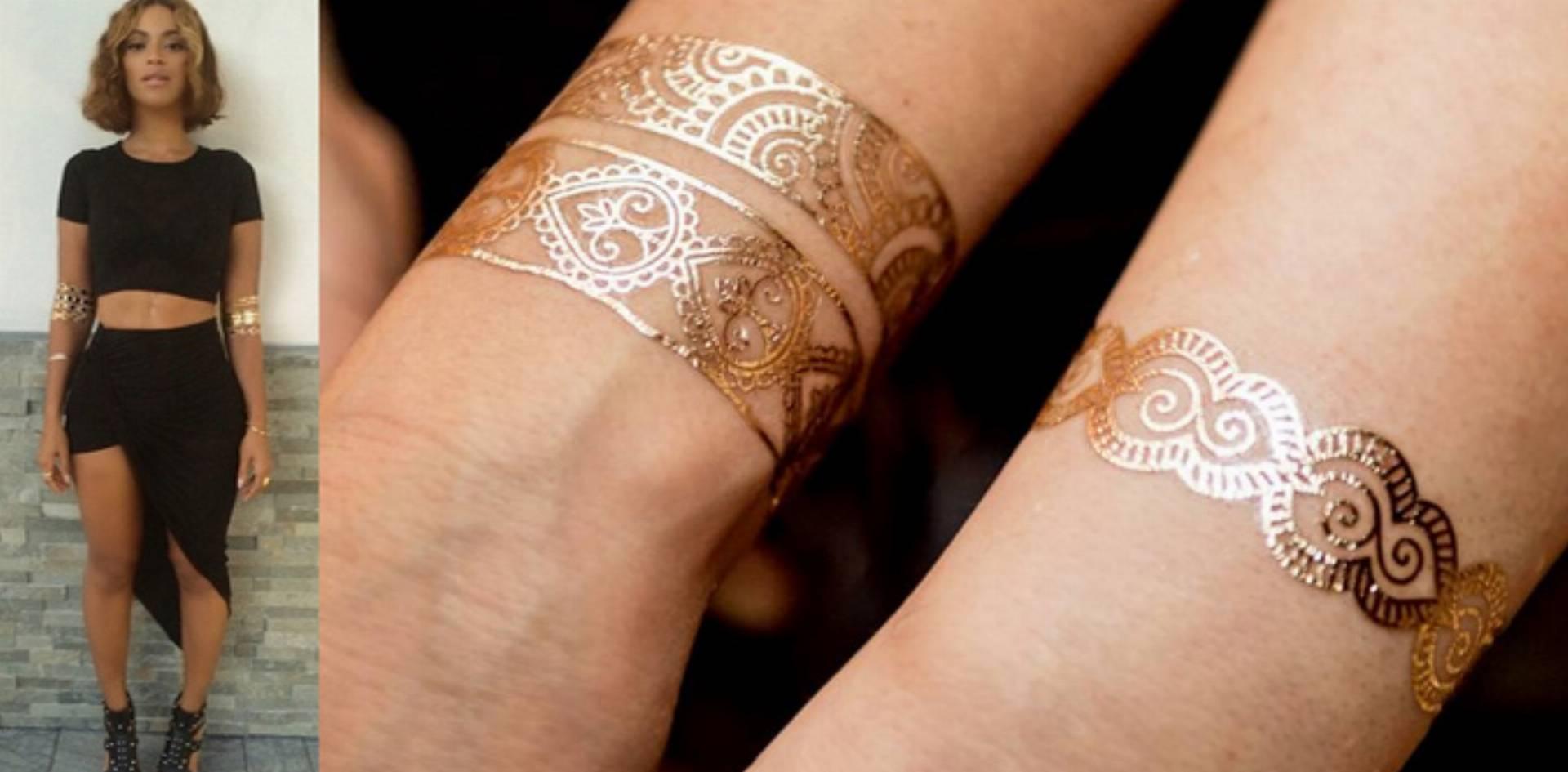 To Jest Hit Zmywalne Złote Tatuaże Bright Boho Kobietamagpl