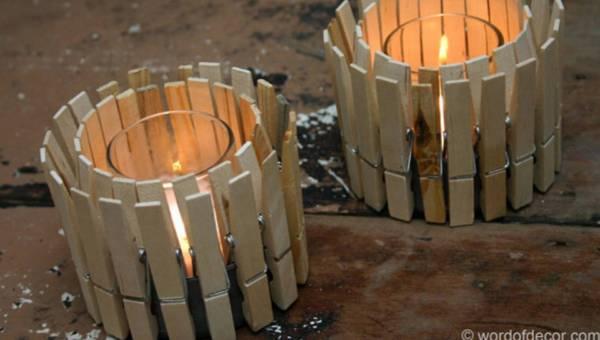 DIY – lampiony ze spinaczy