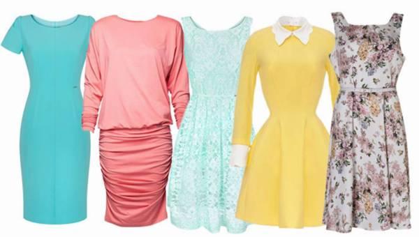 Pastelowe sukienki wiosna 2015 – shoppingowy przegląd