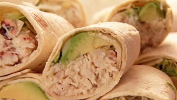 Przepis na: Wrapy tuńczykowe i krabowe