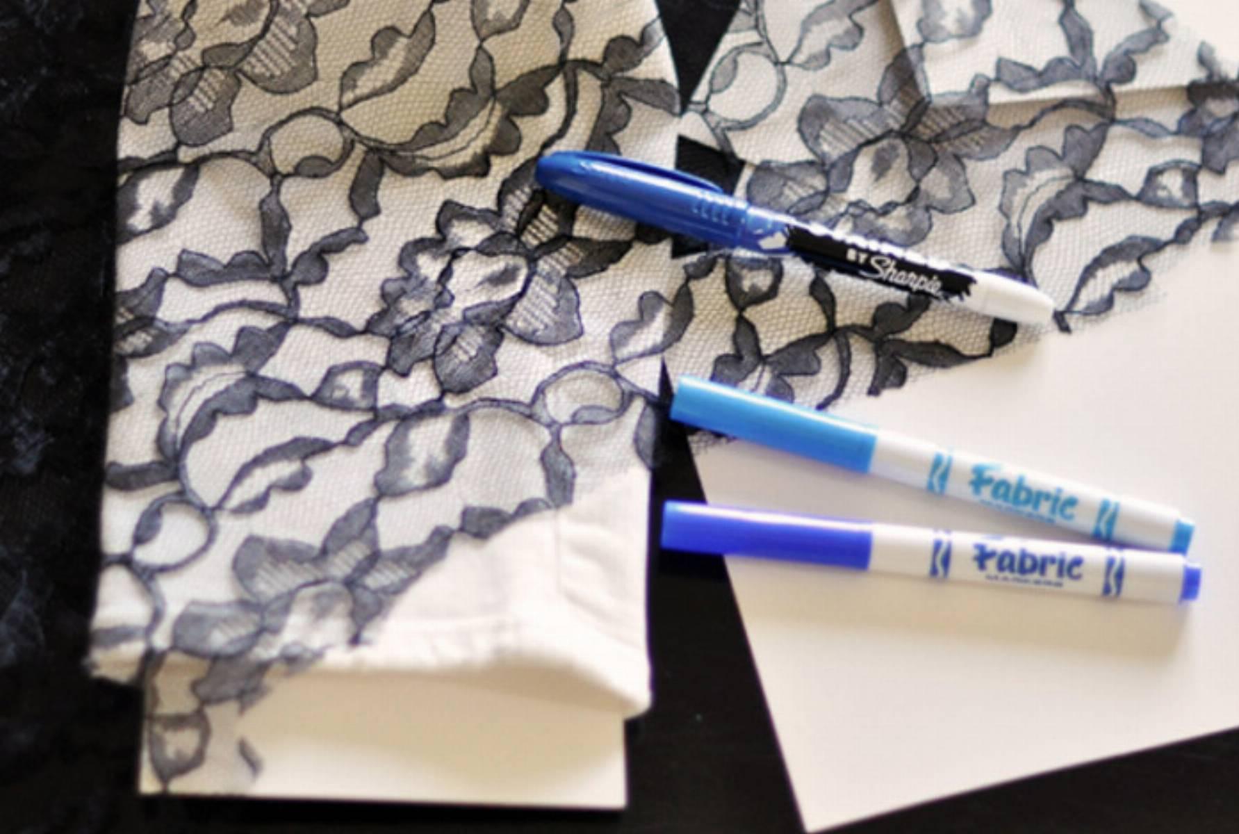 Рисунки на ткани своими руками фломастеры