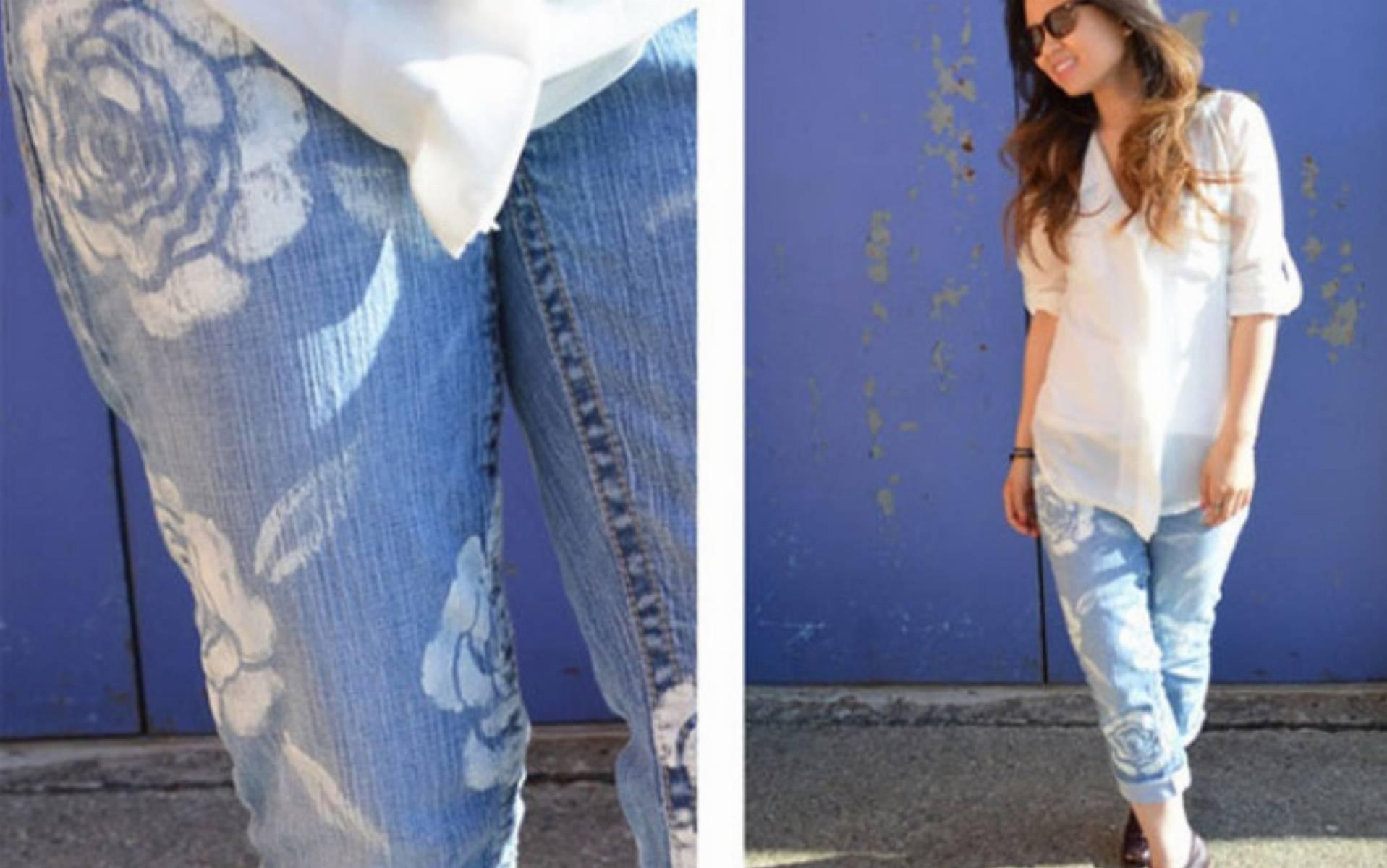 Украсить рваные джинсы своими руками