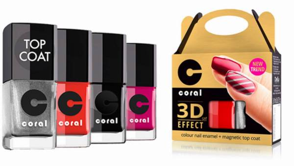 Magnetyczny manicure CORAL 3D Effect od Delia Cosmetics