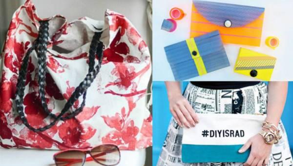 DIY: Pomysły na własnoręcznie wykonane torebki !