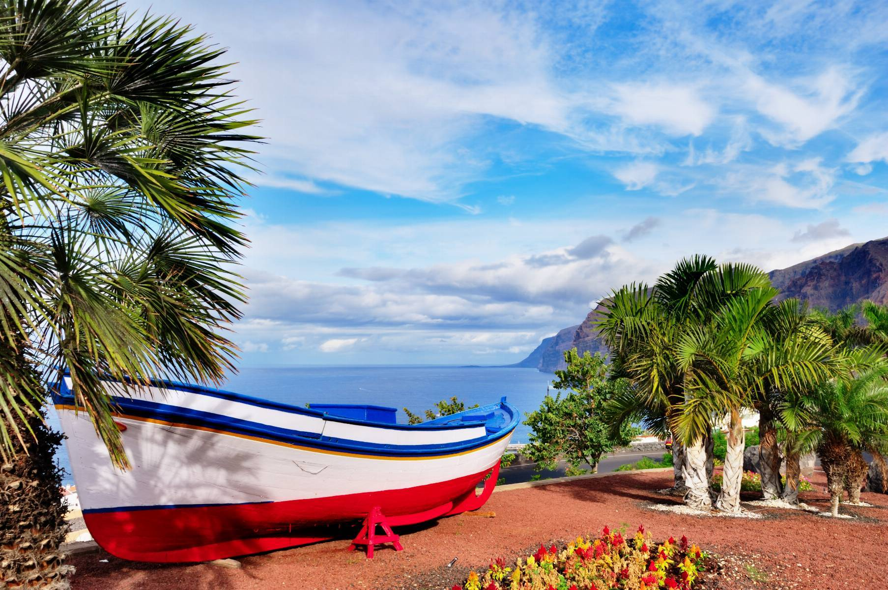 Traditional Painted Fishing Boat, Tenerife