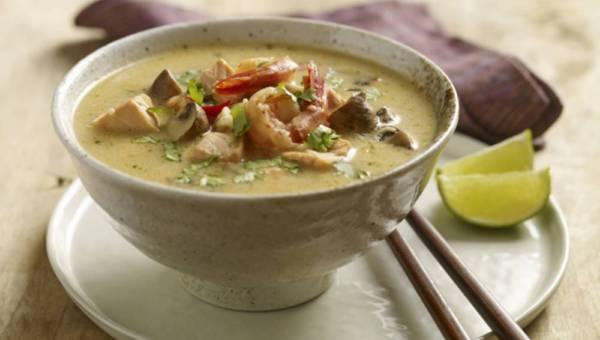 Przepis na: Zupa tajska z owocami morza