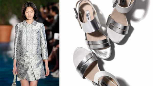 Metaliczne buty Clarks na lato 2015